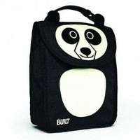 BUILT NY Big Apple Buddies Insulated Lunch Sack, Pearl Panda (BAB1-PDA)