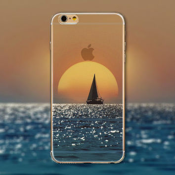 Sea Sunset Tourism Scenery iPhone 5 5S iPhone 6 6S Plus creative case + Nice Gift Box -125