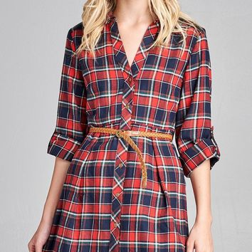 Enjoy My Company Plaid Tunic
