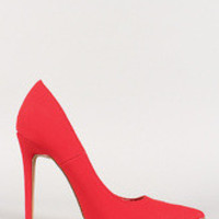 Women's Shoe Republic Nubuck Pointy Toe Stiletto Pump
