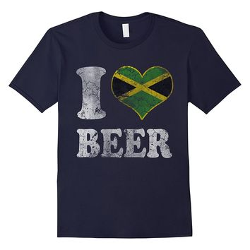 I Heart Jamaican Beer Jamaica Flag Shirt