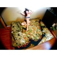 THE SUPER SKUNK MARIJUANA FITTED BED SHEET