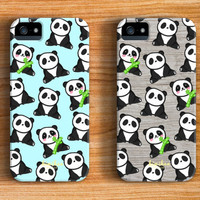 Cute Panda Pattern iPhone 6 Case iPhone 5 Case iPhone 5C Case iPhone 4 Case Samsung Galaxy s5 Case iPhone Hard Plastic Case