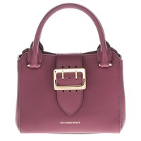 Burberry Small Buckle Tote in Grainy Plum