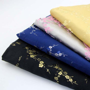 Thicken fake silk brocade tapestry fabric diy felt cloth for home textile sewing patchwork craft material bag fabric tissu 50*75