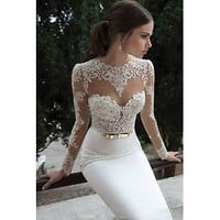 New Sexy Wedding Dress Bridal Gown Lace Custom Size2-4-6-8-10-12-14-16-18+++