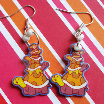 Turtle Stack Hook Earrings