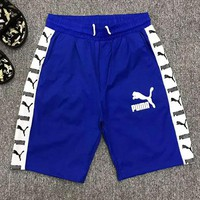 PUMA Classic Fashion Men Casual Print Sports Running Shorts Blue