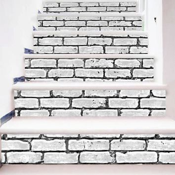 DIY Stair Sticker Steps Wall Paper Removable Sticker Home Decor Ceramic Tiles Patterns Removable