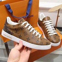 Louis Vuitton LV Women Casual Low-Top Sneakers Sport Shoes