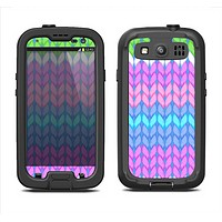 The Bright-Colored Knit Pattern Samsung Galaxy S3 LifeProof Fre Case Skin Set