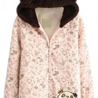 Sequin Cartoon Hooded Coat - OASAP.com