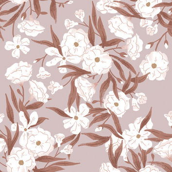 Fleurs Rouge Removable Wallpaper