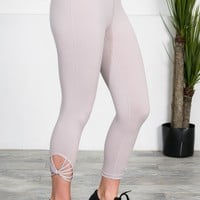 Athletic Sports Capris | Pewter Grey