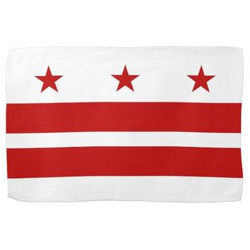 Kitchen towel with Flag of Washington D.C., U.S.A.