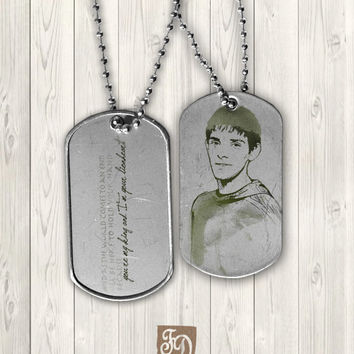 Pendant Merlin  dog tag  by FeerieDoll on Etsy