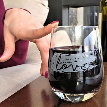 Love Stemless Glass for Mom
