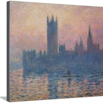 The Houses of Parliament, Sunset, 1903 Giclee Print by Claude Monet at Art.com