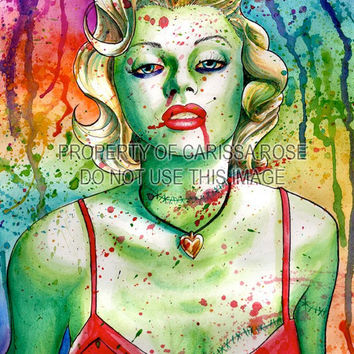 Marilyn Monroe Zombie Doll 18x24 inch poster sized by NeverDieArt