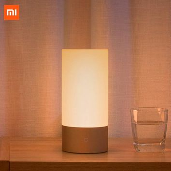 Xiaomi Yeelight Bedside Lamp 2 Wifi+Bluetooth Dual Remote Contro Smart LED Table Cylinder Lamp Touch Dimmable Color Changing RGB