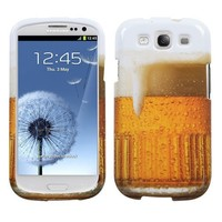 MYBAT SAMSIIIHPCIM909NP Compact and Durable Protective Cover for Samsung Galaxy S3 - 1 Pack - Retail Packaging - Beer-Food Fight