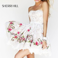 Floral Embellished Dress by Sherri Hill