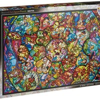 New 1000 Piece Jigsaw Puzzle Disney Stained Art All-Star Stained Glass Japan