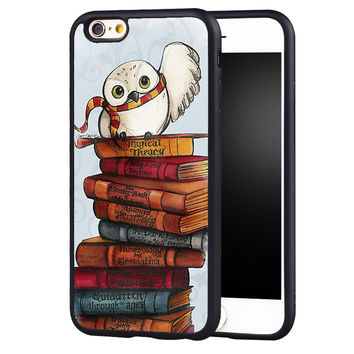 Harry Potter Owl Hedwig Printed Soft Rubber Skin Mobile Phone Cases For iPhone 6 6S Plus SE 5 5S 5C 4 4S Back Shell Cover