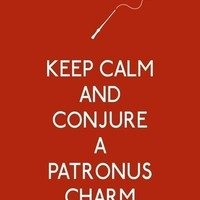 Keep Calm and Conjure a Patronus Charm 11 x 14 by 3LambsGraphics