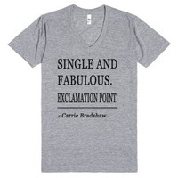 Single and Fabulous-Unisex Athletic Grey T-Shirt