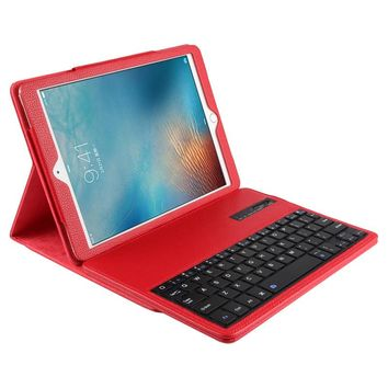 Wireless Bluetooth Keyboard +PU Leather Cover Protective Smart Case For Apple iPad Pro 9.7 inch Case + Film +Stylus