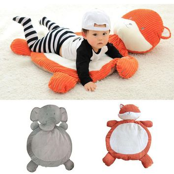 Cute Cartoon Sleeping Mat and Blanket For Baby