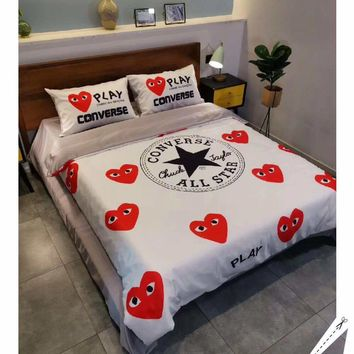PLAY CONVERSE Stylish Fashion Modal 4 Pieces Sheet Set Blanket For Home Decor Bedroom Living Rooms Sofa