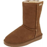Bearpaw Womens Emma Short Suede Lined Casual Boots