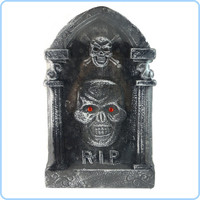 Halloween Horror Scene Props Event & Party Bar Supplies Foam Board Tombstone Prop Skeleton Skull Tombstone Halloween Decoration
