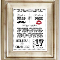 8x10 Photo Booth Prop Pose Moustache Typography White Wedding Sign Black Friday AND Cyber Monday Sale