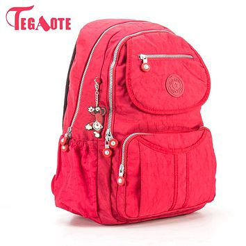 TEGAOTE School Backpack For Teenage Girl Mochila Feminina Escolar Women Backpacks Bag Nylon Casual Travevl Laptop Bagpack Femal