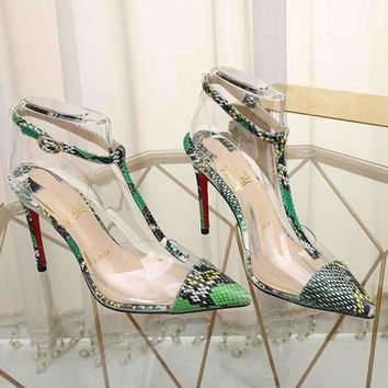 Christian Louboutin CL Fashion Trending Leather Women High Heels Women Shoes