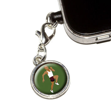 Runner - Running Track Long Distance Cross Country Mobile Phone Charm