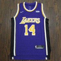 Men's Los Angeles Lakers #14 Brandon Ingram Statement Edition Purple Jerseys - Best Deal Online