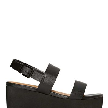 Shoe Cult Bianca Flatform - Black