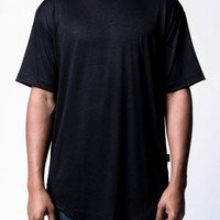 Black | Side-Zip Long Tee