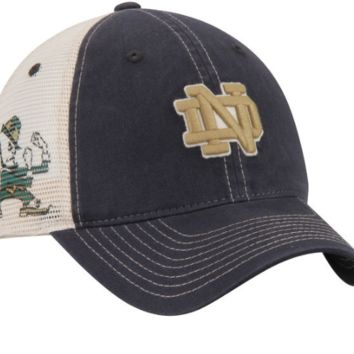 Men's Zephyr Notre Dame Fighting Irish Sideout Meshback Slouch Trucker Adjustable Snapback Hat