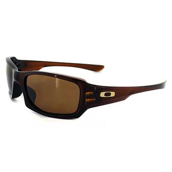 One-nice™ Oakley Fives Squared Sunglasses Polished Rootbeer Polarized Bronze OO9238-08