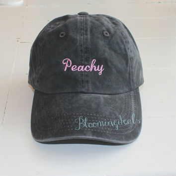 Baseball Cap Personalized Black Hat Low Profile Pigment Dyed Unconstructed