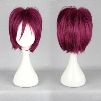 Long Color Mixed Free Rin Matsuoka wig synthetic Beautiful lolita wig Anime wig,New Highlight Ombre Colorful Candy Colored synthetic Hair Extension Hair piece 1pcs WIG-370E