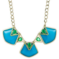 Danielle Stevens Blue Gold and Green Necklace - Max & Chloe