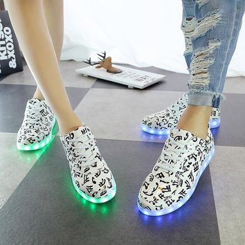 2018 Light Up Glow in The Dark LED Shoes for Adults