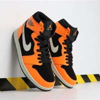 "Air Jordan 1 Mid ""Orange/Black"" AJ1 Retro - Best Deal Online"