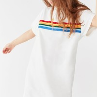 UO Rainbow Striped T-Shirt Dress | Urban Outfitters